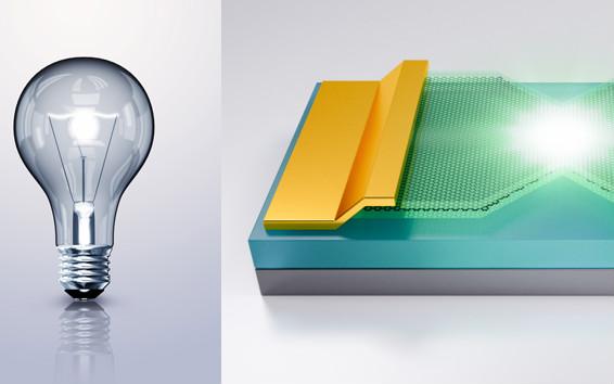 石墨烯焦耳热发光,国防科大打造史上最薄电灯泡