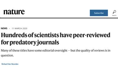Nature:史上最大规模调查,到底是谁在为掠夺性期刊审稿?